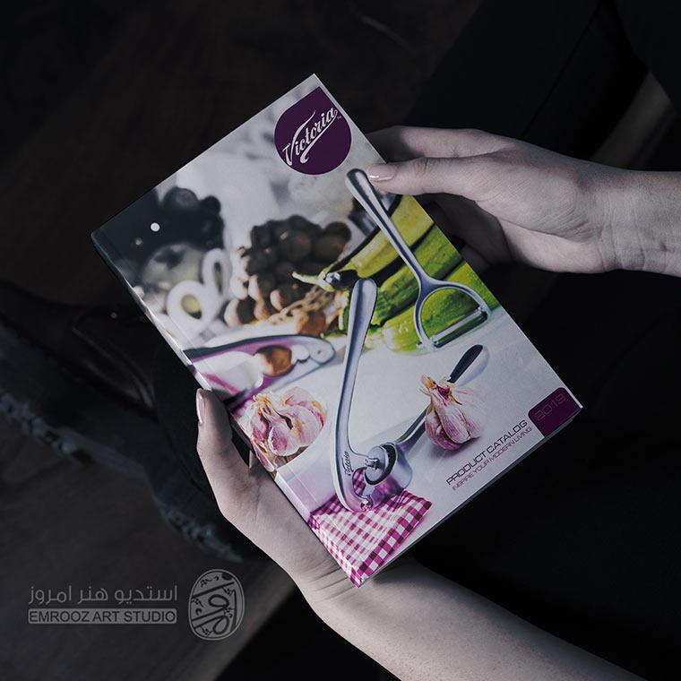 طراحی جلد کاتالوگ لوازم آشپزخانه