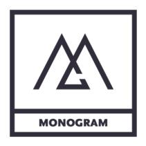 نمونه لوگو مونوگرام